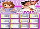 Calendário 2017 Sofia Princesa de Encantia
