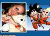 Moldura Krillin e Goku Dragonball