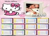 Calendário 2017 Gatinha Hello Kitty