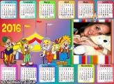 Calendário Infantil Circo do Patati Patatá 2016