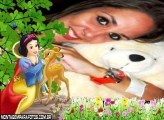 Branca de Neve e Bambi Feliz