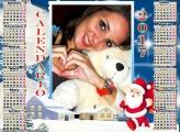 Calendário 2017 Polo Norte Papai Noel Cut