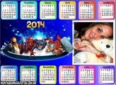 Calendário Marvel Heroes 2014