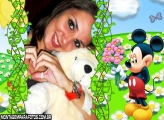Moldura Flores Mickey