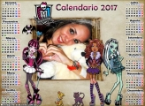 Calendário 2017 Monster High Personagens