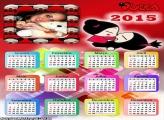 Calendário 2015 Pucca Beijo