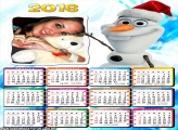 Calendário Olaf Frozen 2016