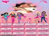 Barbie Jovem Calendário 2013