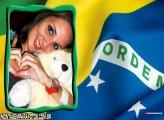 Bandeira do Brasil Moldura