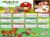 Calendário Cocoricó 2013