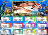 Calendário 2014 Ariel Disney