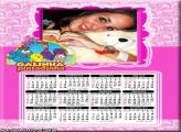 Calendário Galinha Pintadinha Rosa 2016 Moldura