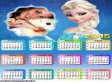 Moldura Frozen Calendário 2015