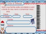 Convite Ursinho Marinheiro Digital