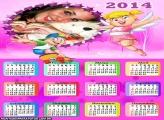 Calendário 2014 da Xuxinha