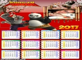 Calendário 2017 do Kang Fu Panda Filme