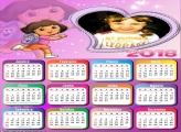Calendário 2018 Dora Coração Infantil