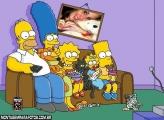 Moldura Família Simpsons