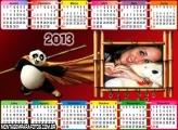 Moldura Calendário Panda 2013