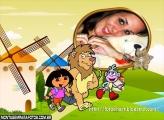 Dora e Leão Moldura