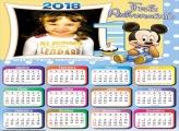 Calendário 2018 Mickey Feliz Aniversário 1 Ano