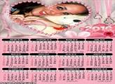 Calendário Coração Romântico para Casal 2016