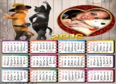 Calendário Gato de Botas Dançando 2016