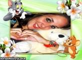 Moldura Flores Tom e Jerry