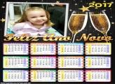 Calendário 2017 Feliz Ano Novo