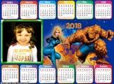 Calendário 2018 Quarteto Fantástico