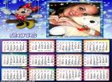Calendário Minnie Estrelinhas 2016