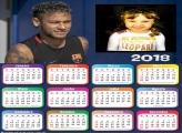 Calendário 2018 Neymar PSG