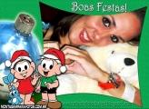 Boas Festas Mônica e Cebolinha