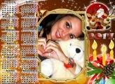 Calendário 2017 Vela de Natal e Papai Noel