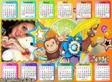 Calendário George Macaquinho 2016 Desenho