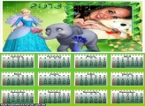 Calendário Barbie Elefante 2013