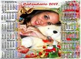 Calendário 2017 Lista de Presentes do Papai Noel