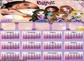 Calendário Bratz Lilás 2013