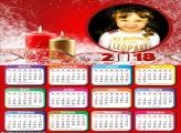 Calendário 2018 Personalizado Velas