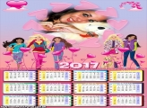 Calendário 2017 Barbie Filmes Amigas