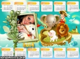 Calendário 2014 Elefante e Leão