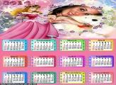 Calendário Vestido da Princesa