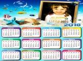 Calendário 2018 Fundo do Mar