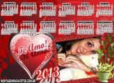 Calendário 2013 Te Amo