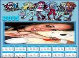 Calendário 2015 Monster High