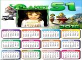 Calendário 2018 Planeta 51 Desenho