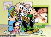 Cebolinha Dia dos Pais Moldura