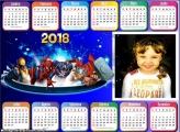 Calendário 2018 Horizontal Marvel