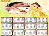 Calendário Princesa Vestido Amarelo 2016