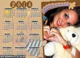 Calendário Ursinho Infantil 2014